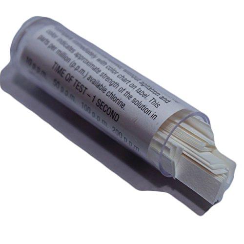 100 Bartovation Chlorine Test Paper Strips for Testing Sanitizer Strength, 10-200 ppm