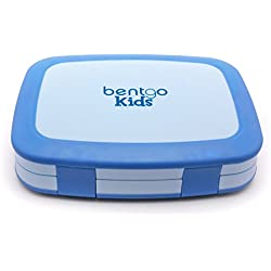 Bentgo Kids Childrens Lunch Box - Bento-styled Lunch Solution Offers Durable, Leak-proof, On-the-go Meal and Snack Packing (Blue)