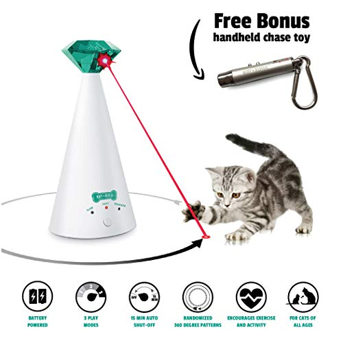 Ruff-n-Ruffus-Automatic-Laser-Cat-Toy-Free-Bonus-3-in-1-Chase-Toy-Interactive-Cat-Chase-Toy-3-Rotating-Modes-Auto-Shut-Off-AA-Battery-Operated-KittenCat-Owners-Gift-Idea