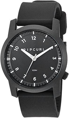 Rip Curl Men's Cambridge Quartz Sport Watch with Silicone Strap, Black, 22 (Model: A3088-BLK)
