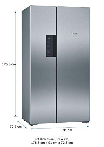 418J7cj8JnL Bosch 661 L Frost Free Side-by-Side Refrigerator(KAN92VI35I, Stainless Steel, Inverter Compressor)