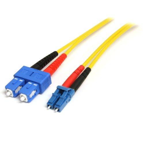 StarTech.com 4m Fiber Optic Cable - Single-Mode Duplex 9/125 - LSZH - LC/SC - OS1 - LC to SC Fiber Patch Cable (SMFIBLCSC4)
