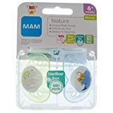 Mam Nature Soother Twin Pack 6m+ (Elephant/Rhino)