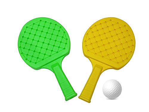 418Qs+gI69L - FULLY Kids Indoor Outdoor Play Hand Eye Coordination Table Tennis Racket Return Gift for Kids, 50 Grams, Pack of 1