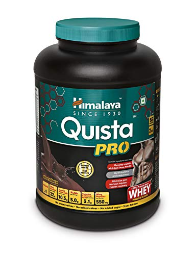 Best whey protein powder  Himalaya Quista Pro Advanced Whey Protein Powder – 2 kg (Chocolate)