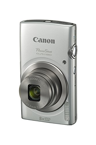 Canon PowerShot ELPH 180 Digital Camera w/Image Stabilization and Smart AUTO Mode (Silver)