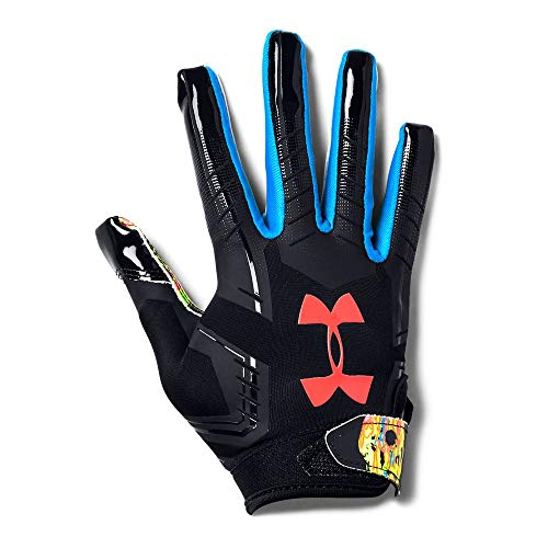 Under Armour Boy's F6 LE Football Gloves, Black (001)/Neo Pulse, Youth Large