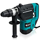 Hiltex 10513 1-1/2 Inch SDS Rotary Hammer Drill | Includes Demolition Bits, Flat and Point Chisels