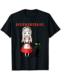 Abnormal Black Cat Halloween TShirt Costume