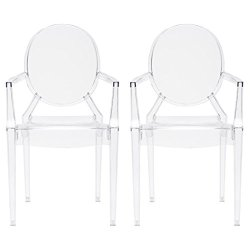 Edgemod Em-103-Clr-X2 Dining (Set of 2), Set, Two Chairs
