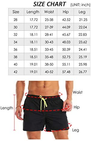 YnimioAOX Men's Swim Trunks Quick Dry Beach Shorts Swimwear Bathing Suit with Mesh Lining 6
