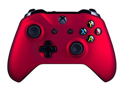 418ir3WSylL - Xbox One S Wireless Controller for Microsoft Xbox One - Soft Touch Red X1 - Added Grip for Long Gaming Sessions - Multiple Colors Available