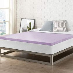 Best Price Mattress 2 Inch Ventilated Memory Foam Topper, Mattress Pad with Soothing Lavender Infusion, CertiPUR-US…