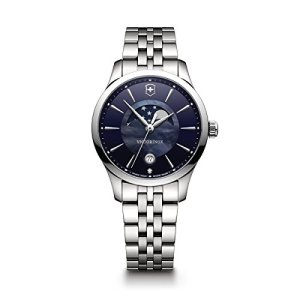 Victorinox Women's Alliance Swiss-Quartz Watch with Stainless-Steel Strap, Silver, 17 (Model: 241752)