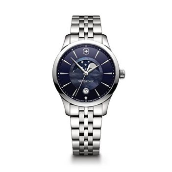 Victorinox Women's Alliance Swiss-Quartz Watch with Stainless-Steel Strap, Silver, 17 (Model: 241752)