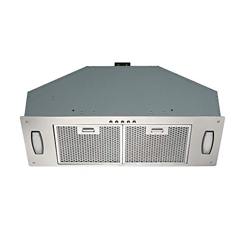 Kitchen 30-inch Built-In/Insert Range Hood, 3-Speed, 750 CFM, LED Lights, Honeycomb Filters