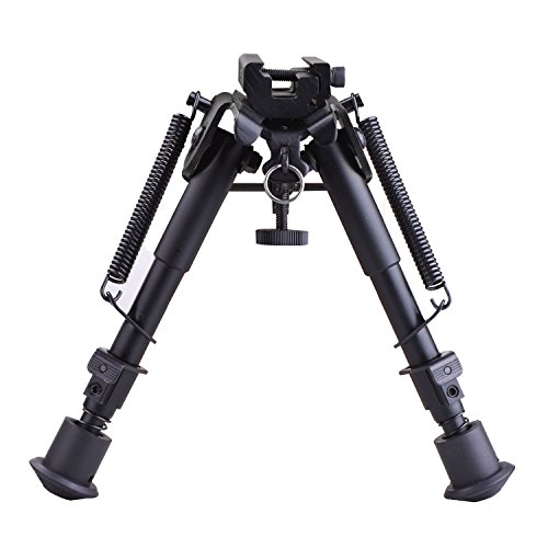 CVLIFE 6-9 Inches Tactical Rifle Bipod Adjustable...