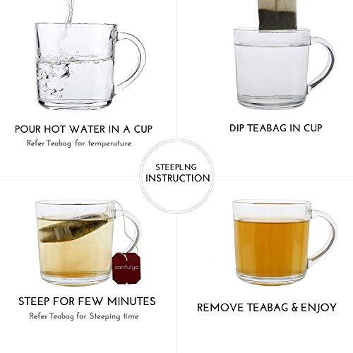 SANTULYA Organic Turmeric + Tulsi + Moringa Herbal Tea for Detox & Immunity (100 Tea Bags) 4