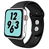 Product review of YIUES Compatible with Apple Watch Band Series 4 40mm 44mm Series 3/2/1 38mm 42mm Men and Women, Silicone Sport Replacement iWatch Band