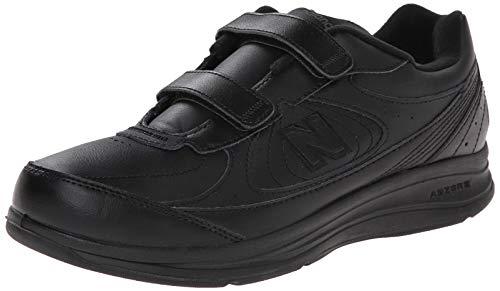 New Balance Men's MW577 Hook and Loop Walking Shoe, Black, 12 4E US