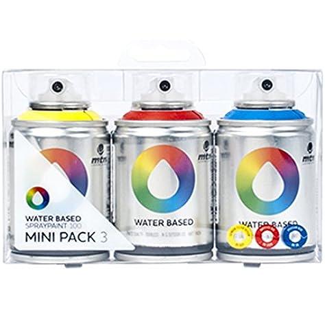 Amazon.com: Montana MTN Colors - Water Based Spray Paint Mini Pack ...