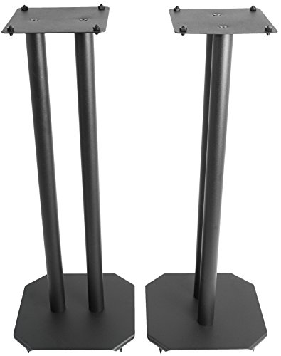 VIVO Premium Universal 25' Floor Speaker Stands for Surround Sound & Book Shelf Speakers (STAND-SP03B)