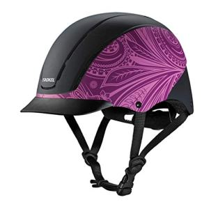 TROXEL SPIRIT Purple Boho Equestrian Riding Adjustable Helmet