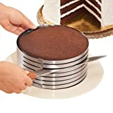 MarxHousehold Adjustable 9' to 12' Stainless Steel Layer Cake Slicer Kit Mousse Mould Slicing Cake