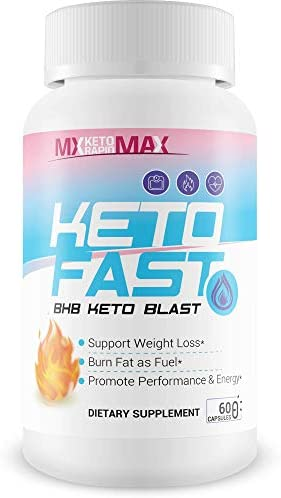 Keto Fast - BHB Keto Blast - Burn Fat Fast with Accelerated Ketosis Entry - by MX Keto Rapid Max - Feel The MX Keto Blast Effect of Calcium BHB Salts for max Rapid Keto Fat Burning and Weight Loss 1