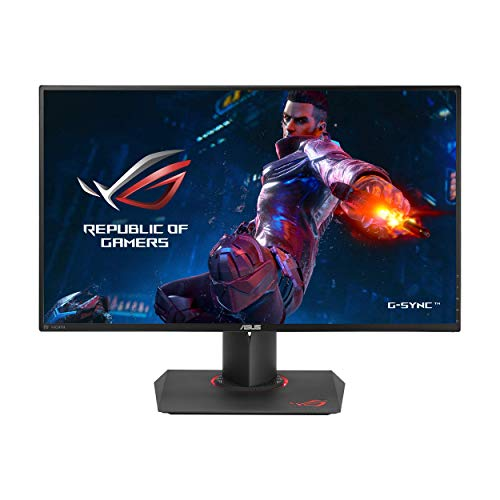 ASUS ROG PG279Q 27' Gaming Monitor WQHD 1440p IPS 165Hz DisplayPort Adjustable Ergonomic EyeCare G-SYNC