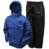 Frogg Toggs All Sport Rain Suit, Black Jacket/Black Pants, Size XXX-Large