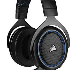 Corsair HS50 PRO Stereo Gaming Headset (Adjustable Memory Foam Ear Cups, Lightweight, Noise-Cancelling Detachable Microphone with PC, PS4, Xbox One, Switch and Mobile Compatibility) – Blue