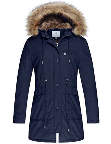 81woMvFU5uL Material: Shell: 100% Cotton Body Lining: Sherpa lined Windproof, breathable, seam sealed Zip-off down filled hood with removable synthetic fur
