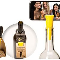 Selfie Cork is A Bottle Stopper That Turns Your Bottle Into A Tripod for Videos and Pictures - 3,2,1.Selfie Cork! (Black…