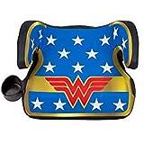 KidsEmbrace Wonder Woman Booster Car Seat, DC Comics Youth Backless Seat, Blue