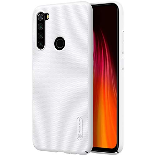 "Nillkin Case for Xiaomi Redmi Note 8 (6.3"" Inch) Super Frosted Hard Back Cover PC White Color 177"
