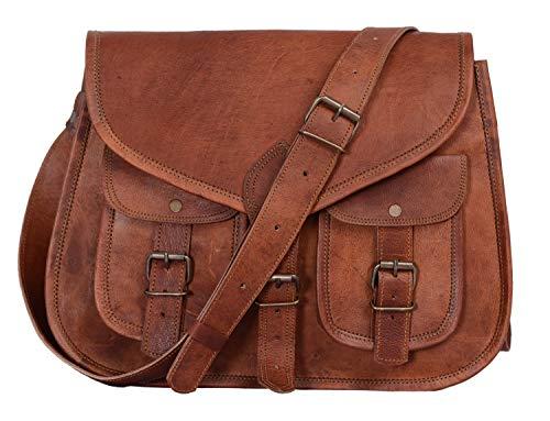 KPL-14-Inch-Leather-Purse-Women-Shoulder-Bag-Crossbody-Satchel-Ladies-Tote-Travel-Purse-Genuine-Leather-Tan-Brown