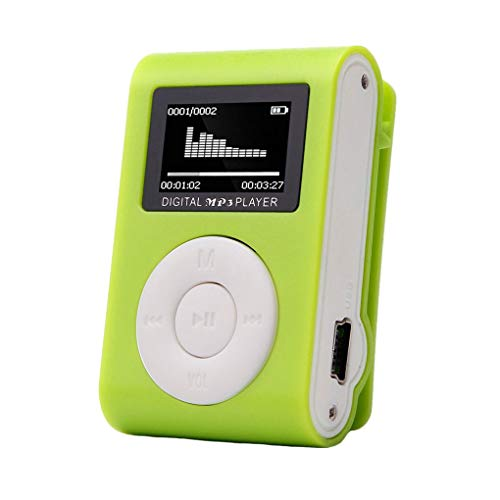 Tralntion Running Sport Mini MP3 USB Clip MP3 Player LCD Screen Support Micro SD TF Card Stylish Design Portable