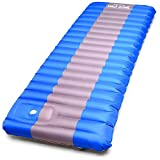 Half Dome Sleeping Pad Waterproof Mat - Perfect Hiking, Camping, Car Sleeping, Backpacking Air Sleeping - Inflatable Sleep Bag Pad Built in Pump