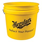 Meguiar's Yellow Bucket – Make Car Washing Easy With Bright Bucket for Water and Suds – 3.5 gal