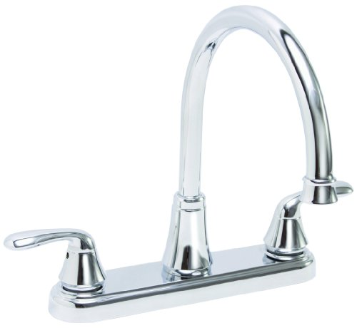 Premier 126965 Waterfront Kitchen Faucet With Two Handles, Chrome, Lead Free