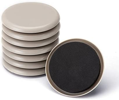 CO-Z Furniture Sliders for Carpet, Furniture Movers Carpet Coasters for Effortlessly Moving Heavy Furnishings, Reusable Round Glides Glider Pads (8 Pack, 3.5 Inch)