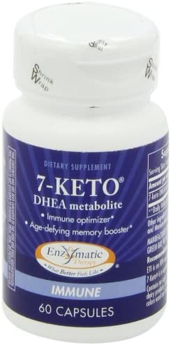 Enzymatic Therapy 7-KETO3 DHEA Metabolite, 25mg Potency, 60 Capsules 9