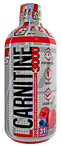 ProSupps L-Carnitine 3000 Liquid Fat Burner, Stimulant Free Metabolic Enhancer, 31 Servings (Berry Flavor)