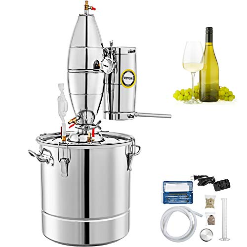 VEVOR-30L-79Gal-Water-Alcohol-Distiller-304-Stainless-Steel-Moonshine-Still-Wine-Making-Boiler-Home-Kit-with-Thermometer-for-Whiskey-Brandy-Essential-Sliver