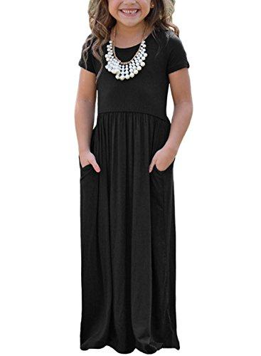 56d050262 Chase Secret Girls Dress Short Sleeve Round Neck Pocket Summer ...