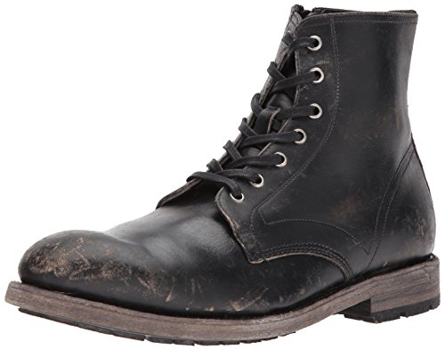 FRYE Men's Bowery Lace Up Combat Boot, Black, 11.5M