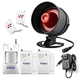 KERUI Home Security System Indoor Outdoor Weather-Proof Siren Window Door Sensors Motion Sensor Alarm with Remote Control more DIY, Wireless Home Hotel Garage Shop Burglar Door Alarm System