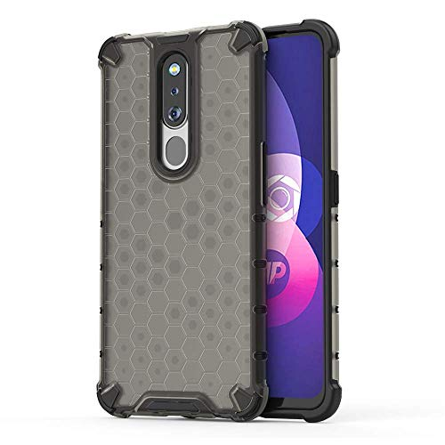 Soezit TPU+PC Dual Layer Honeycomb Pattern Shockproof Back Case Cover for Oppo F11 Pro - Black 1