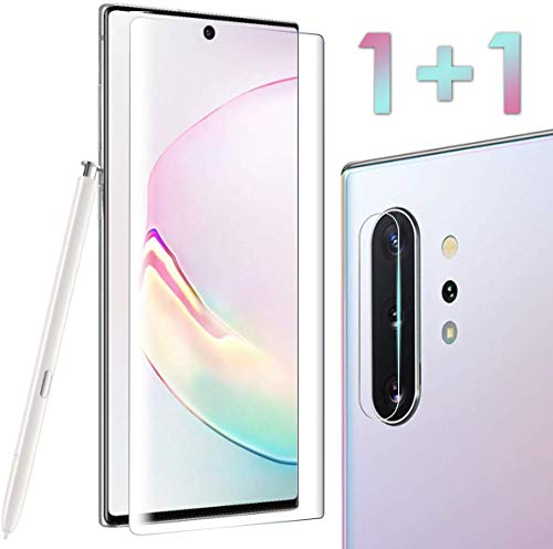 Bocianelli Tempered Glass Screen Protector for Galaxy Note 10[6.3 inches] with a Camera Lens Protector [Case Friendly][Full Coverage][HD Clear]